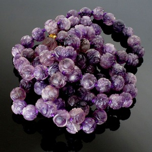 1-Chinese Carved Antique Amethyst Court Beads1