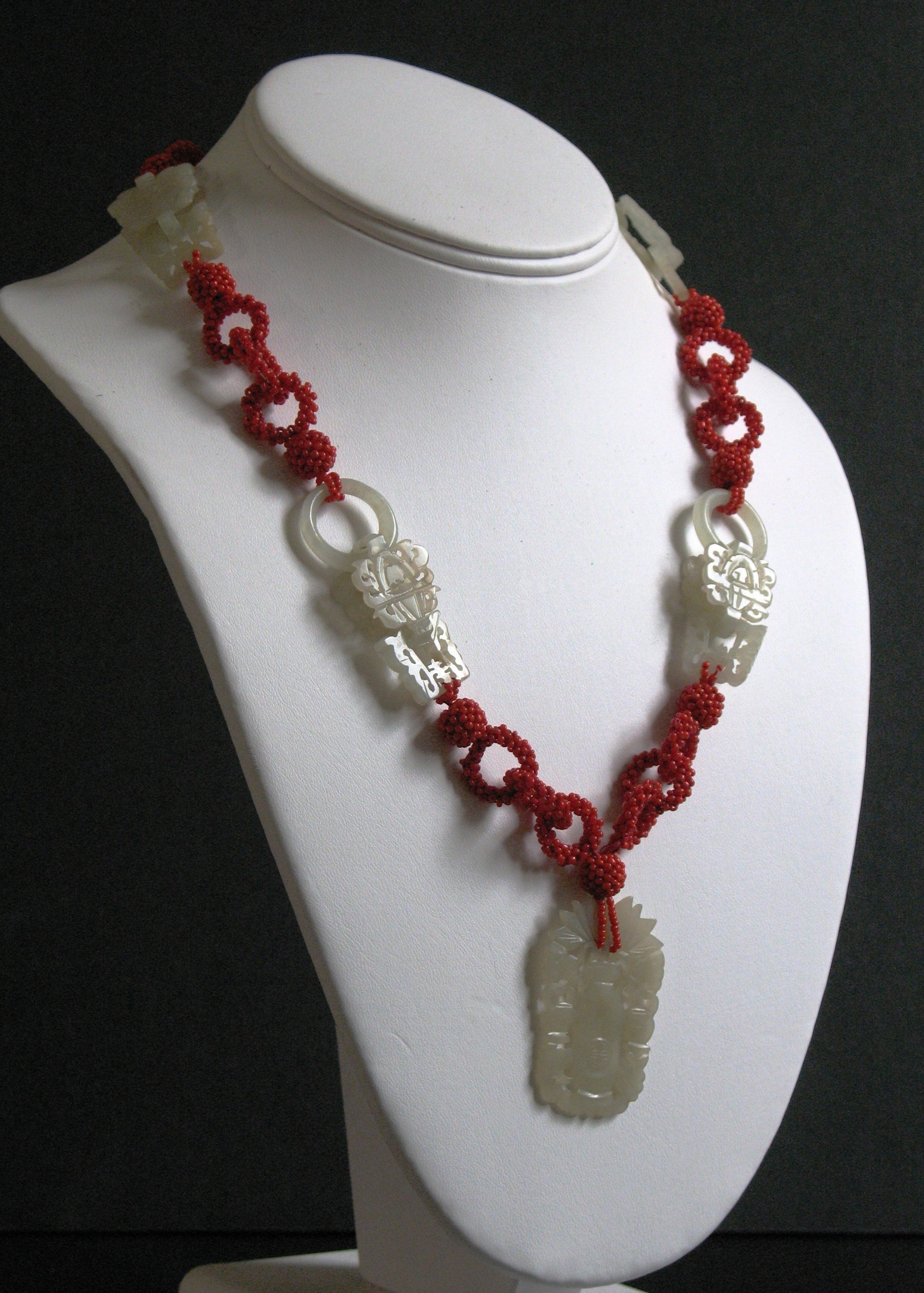 crystal necklace apple sterling ruby lane green item jade vintage chinese sold