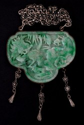 07-04-11 Chinese Carved Jade Pendant 19c