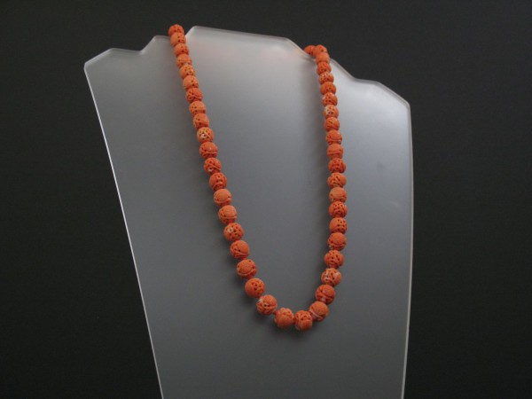 07-04-23  Chinese Carved Coral Necklace