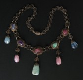 07-06-09  Chinese Multi-Gemstone Necklace-Export