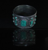 07-12-17 Chinese Silver Turquoise Bracelet