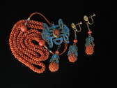 08-02-28 Chinese Coral Enamel KingFisher Set