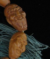 08-09-16-2 Chinese Carved Wood Mala Beads