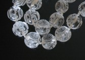 08-09-25 Chinese Rock Crystal Art Deco Beads