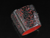 09-03-02 Chinese Cinnabar Lacquer Bracelet and Necklace