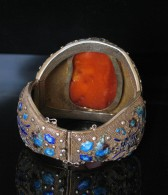 09-06-23 Chinese Carved  Amber Bracelet