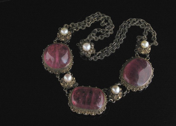 09-09-22 Chinese Tourmaline Pearl Necklace