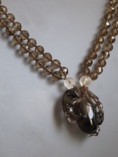 10-04-27 Chinese Carved Smoky Quartz Necklace