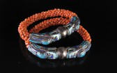 11-04-17 Chinese Silver and Coral Wedding Bangle Set