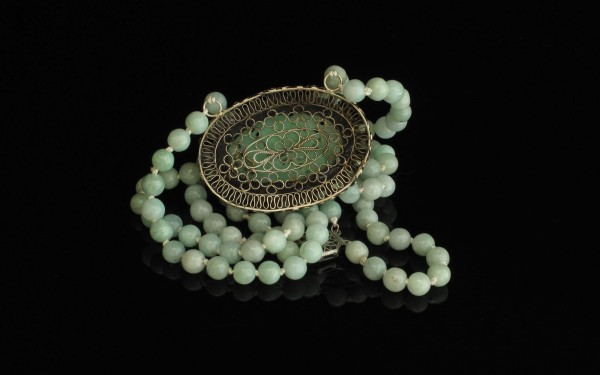 13-03-22 Antique Chinese Silver Jade Broach Conversion